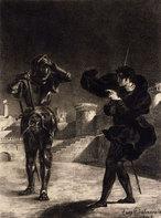 Delacroix - le Fantôme sur la Terrasse