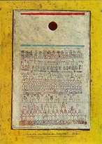 Paul Klee - Page du Livre de la Cité